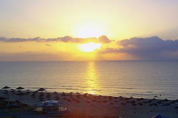 africa-tunisia-hammamet-sunset-mediterranean sea