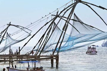 Asia-India-Cochin-Boats-Fishing