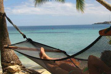 south pacific-fiji-beach-hammock