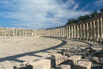 the middle east-jordan-jerash-oval plaza