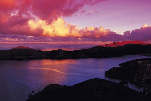 South-America-Bolivia-Sunset-Island-of-the-Sun-Lake-Titicaca